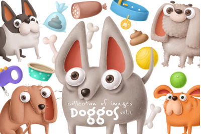 Dogs clipart collection
