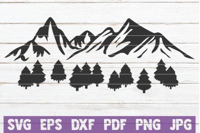 Mountain View SVG Cut File