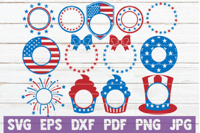 4th of July Monograms Bundle | SVG Cut Files