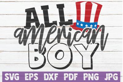 All American Boy SVG Cut File
