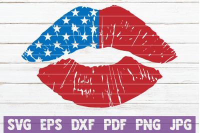 USA Lips SVG Cut File