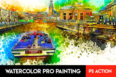 Watercolor Pro Painting Photoshop Action