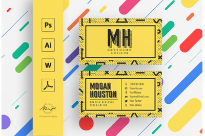 Retro Card Template / Business Card / Calling Card / Name Card