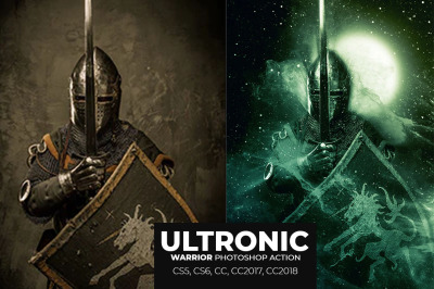 Ultronic Warrior Photoshop Action