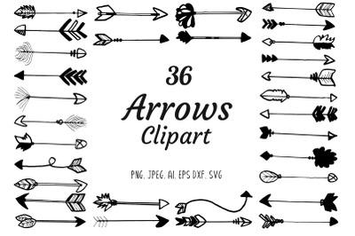 30 Premium Handdrawn Arrows Clipart