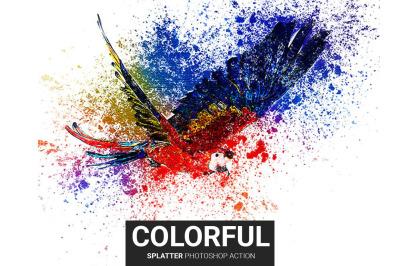 Colorful Splatter Photoshop Action