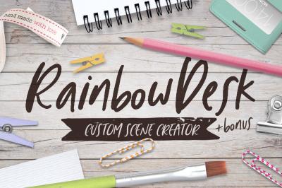 Rainbow Desk - Scene Creator and Mockup - MO002