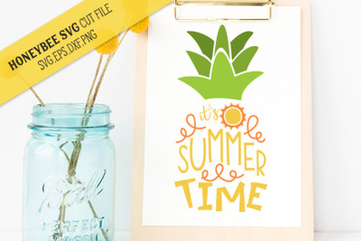 Summer Time Pineapple SVG Cut File