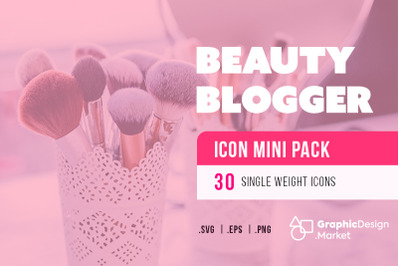 Beauty Blogger (30) Icon Mini Pak by GDM