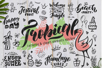 Hand Drawn Tropical style collection