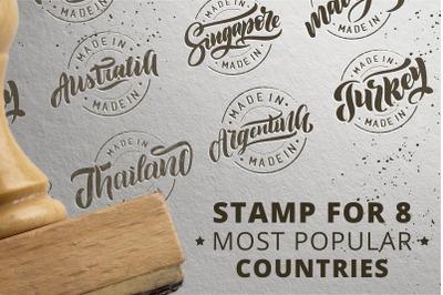 Logo stamp popular countries
