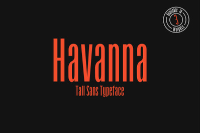 Havanna - Tall sans typeface with 3 weights