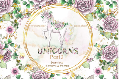 Unicorns. Part2. Patterns & frames
