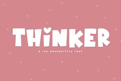 Thinker - A Fun Handwritten Font