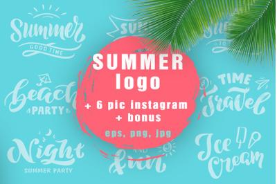 Summer logo collection. Bonus