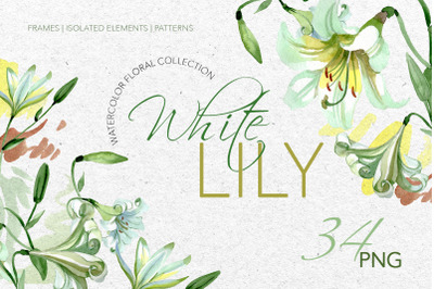 White Lily Watercolor png