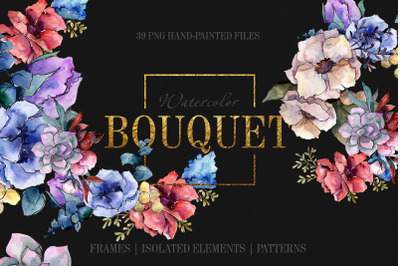 Bouquet Breath of tenderness watercolor png