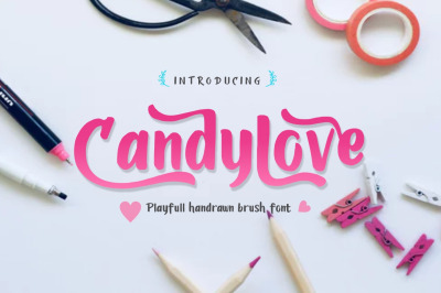 Candylove - Playfull handlettering brush