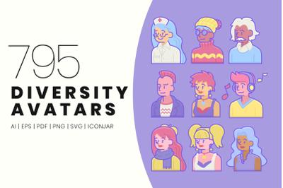 795 Diversity Avatars