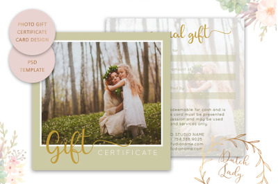 PSD Photo Gift Card Template #6