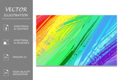 Background with Rainbow Paint