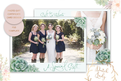 PSD Photo Gift Card Template #18