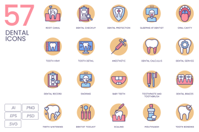 57 Dental Icons