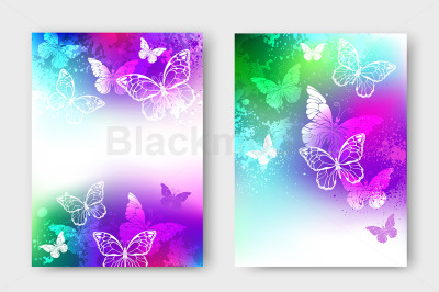 Bright Design with White Butterflies