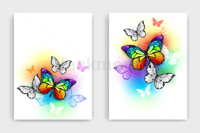 Design with Rainbow Butterflies