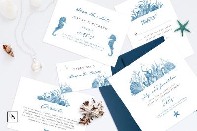 Nautical Wedding Invitation Kit