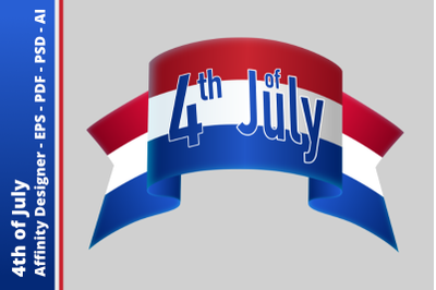 Streamer - 4th of July - Independence Day
