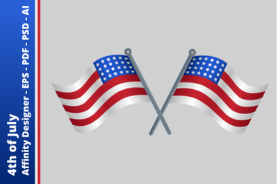 USA Flag - 4th of July - Independence Day