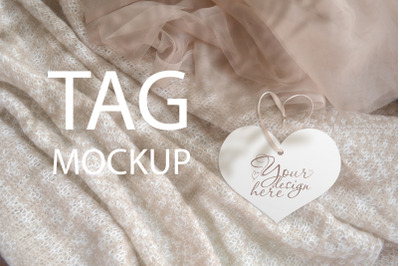 Heart Wedding Tag Mock, PSD+JPEG
