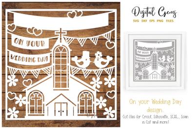 Wedding paper cut design