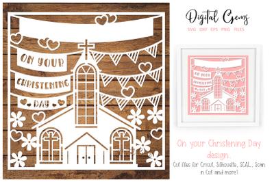 Christening paper cut design