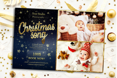 Christmas song Mini Session Template