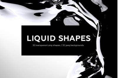 Black Liquid Shapes