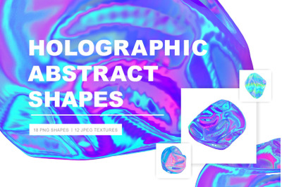Holographic Abstract Shapes