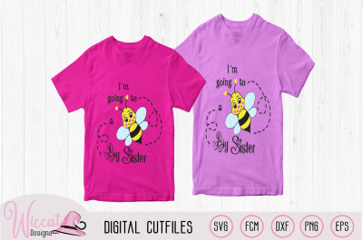 Bee Big sister announcement svg,  pregnant
