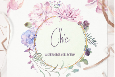 Chic Watercolor Floral Collection