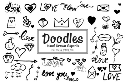40+ Doodles Hand Drawn Cliparts