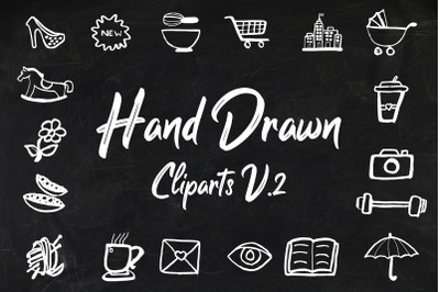 40+ Hand Drawn Cliparts Ver. 2