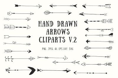 25+ Handdrawn Arrows Clipart Ver. 2