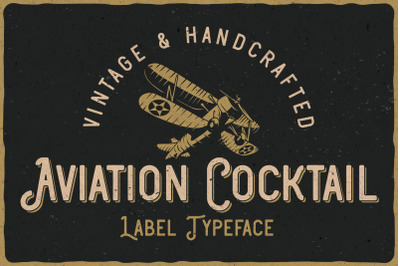 Aviation Cocktail Font + BONUS