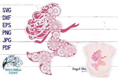 Floral Mermaid SVG Summer Cut File