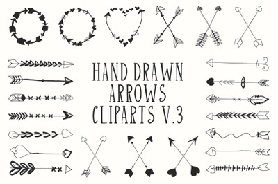 30+ Hand Drawn Cliparts Ver. 3