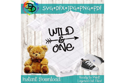 Wild One Svg Cut File, Wild and One Birthday Svg Cutting File for Cric
