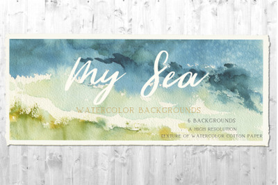 My Sea Watercolor Backgrounds