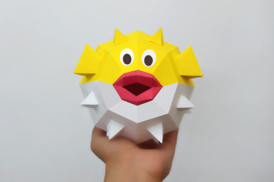 DIY Puffer fish - 3d papercraft