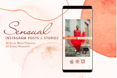 Sensual Instagram Posts and Stories